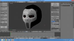 skull helmet - metal