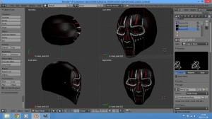 skull helmet - voodoo