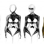 female body concept sketches